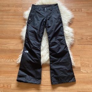 The north face black snow pants